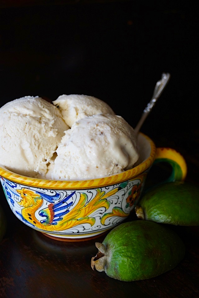 No Churn Guava Ice Cream Recipe -Luscious and creamy, with a tropical fruity and nutty flavor, this no-churn ice cream is the perfect, easy and delicious summer treat!