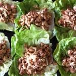 Pepper Jack Turkey-Pickled Onion Lettuce Tacos -- These bundles of lettuce are packed with superb spicy, savory flavors, and are perfect for a lighter meal to go alongside different salsas and guacamole!