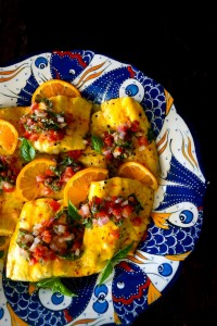Saffron-Orange Whitefish with Tomato Basil Salsa Recipe
