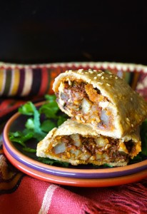 Chorizo-Potato Spiced Sesame Hand Pies Recipe