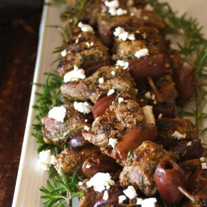 Grilled Rosemary Lamb Kalamata Kebabs Recipe