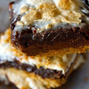 Brownie Pretzel S'mores -- Sweet and salty, ooey-gooey and oh-so chocolaty! This is a S'more you won't want to miss!