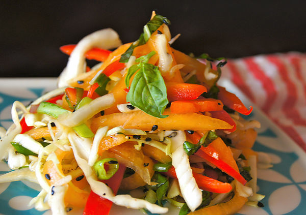 Golden Kiss Melon Asian-Style Slaw