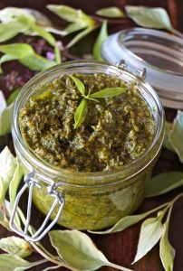 Basil-Lemon Verbena Pesto Recipe -- This pesto is made with basil and lemon verbena, and it's absolutely packed with fresh, intense, delicious flavors. It's rich, smooth and its lovely fragrance unbelievably divine!