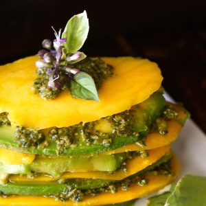 Mango Avocado Pesto Stack Recipe