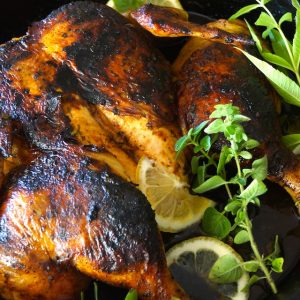 Lemon Herb Chicken Under a Brick Recipe