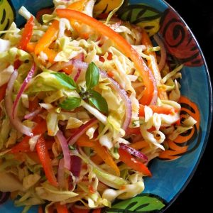 Asian-Style Slaw Recipe with Basil