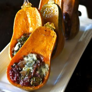 Caramelized Onion-Bacon Cranberry Honeynut Squash Recipe