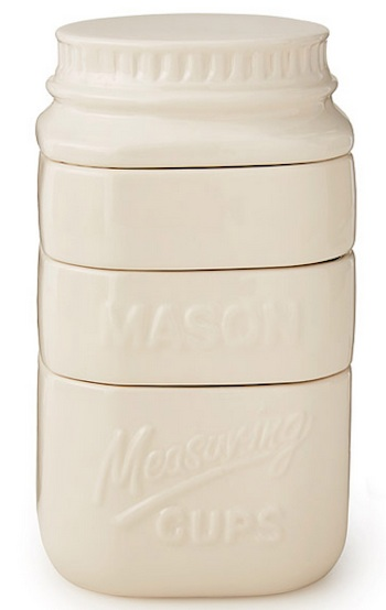 20 Cool Gifts For Foodies & Cooks For Under $20 – The 2016 Guide - ceramic mason jar measuring cups