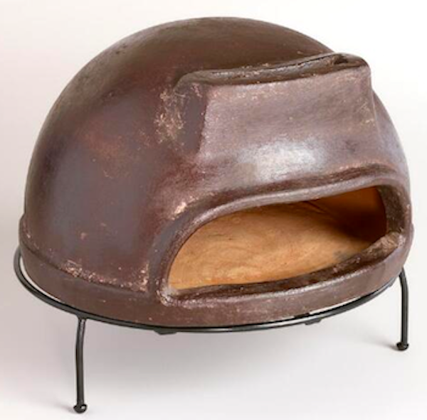 Terracotta Pizza Oven painted brown