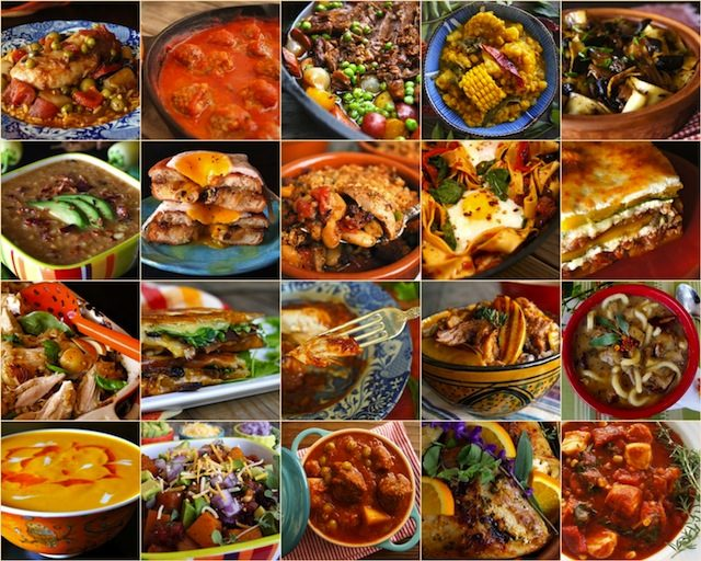 Top 20 Comfort Food Recipes arranged in a photo grid