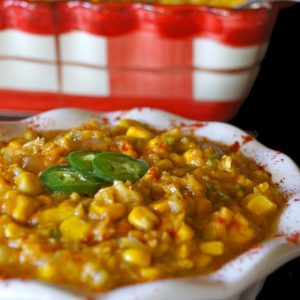 Vegan Creamed Corn with Jalapeños