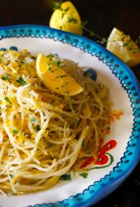 Meyer Lemon Spaghetti with Thyme