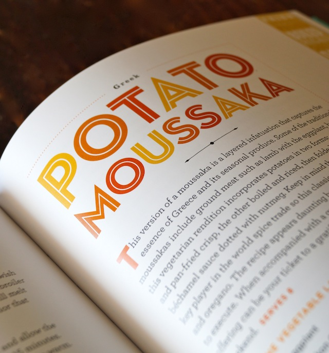 Potato Moussaka Recipe page in Raghavan Iyer's potato cookbook