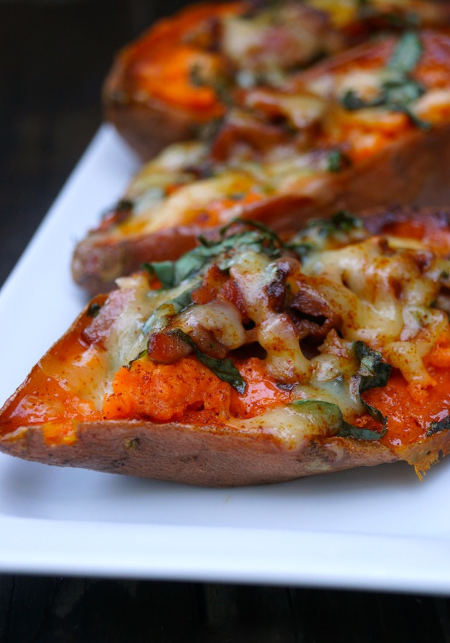 Bacon Basil Baked Sweet Potato Recipe8