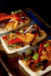 Ginger-Garlic Vegetable Baked Tofu Recipe