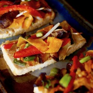 Ginger-Garlic Baked Tofu and Vegetables