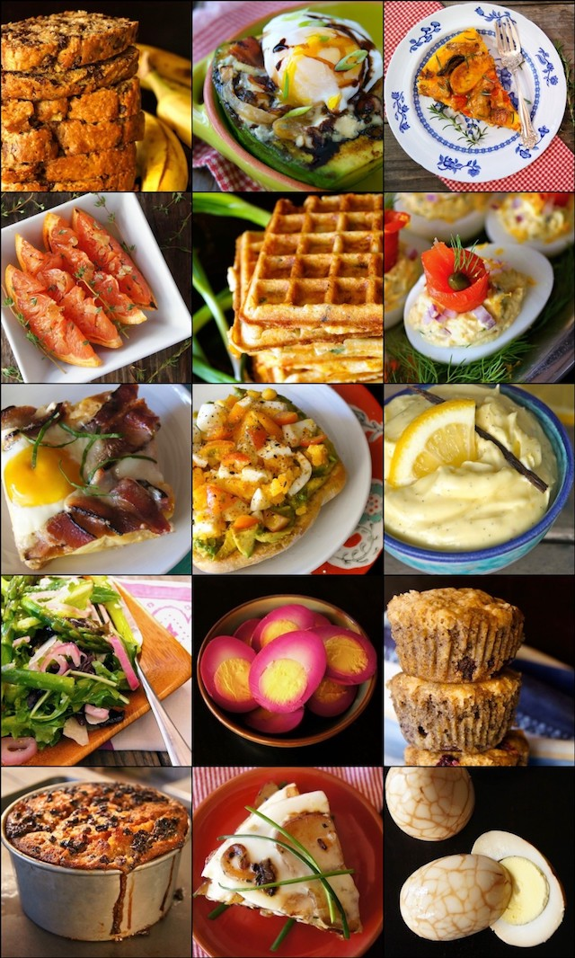 collage of 15 Over-The-Top-Delicious Easter Brunch Menu Ideas