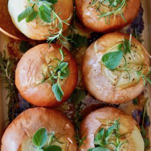 Vermouth Whole Roasted Onions Recipe