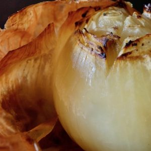 Whole Roasted Onions -- When you slow roast whole onions, they turn from raw, firm and sharp, to sweet, soft, and aromatic.
