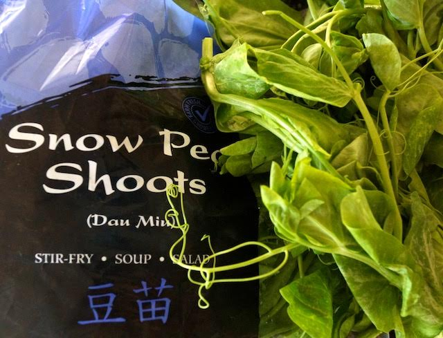 Snow Pea Shoots and Jade Asian Greens bag