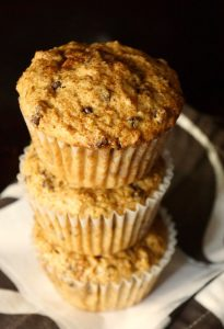 stack of Cappuccino Chocolate Chip Muffins