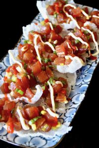 Spicy Poke Nachos Recipe & Kawaihae Kandyz on the Big Island
