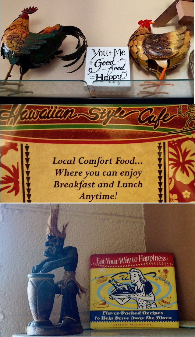 interior deocr at the Hawaiian Style Cafe