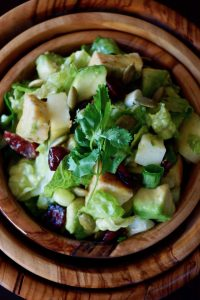 Chopped Chicken-Apple Salad Recipe with Creamy Roasted Jalapeno Lime Vinaigrette -- This main course, chopped salad is full of sweet, savory and spicy flavors that you will definitely keep coming back for more of.