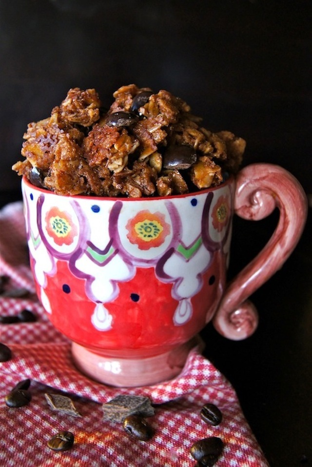 Chocolate-Coffee Almond Granola