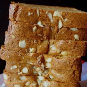 Sliced loaf of gluten-free Macadamia Honey Bread