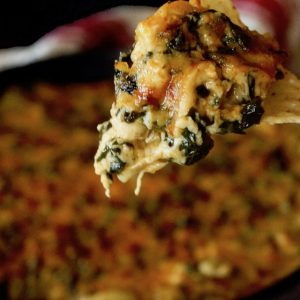 Spicy Spinach Gruyère and Artichoke Dip