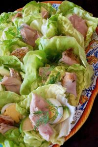 Albacore Nicoise Salad Cups with Honey-Lemon Dressing