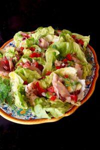 Albacore Nicoise Salad Cups with Honey-Lemon Dressing