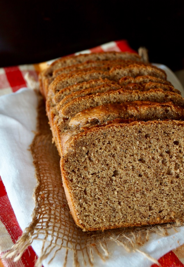 Gluten-Free Almond Butter Bread, sliced