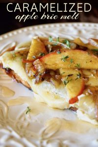 Caramelized Apple Brie Melt Recipe