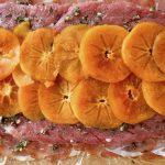 Persimmon Prosciutto Pork Tenderloin Recipe