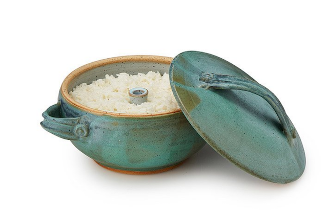 turquoise stoneware rice cooker from uncommongoods