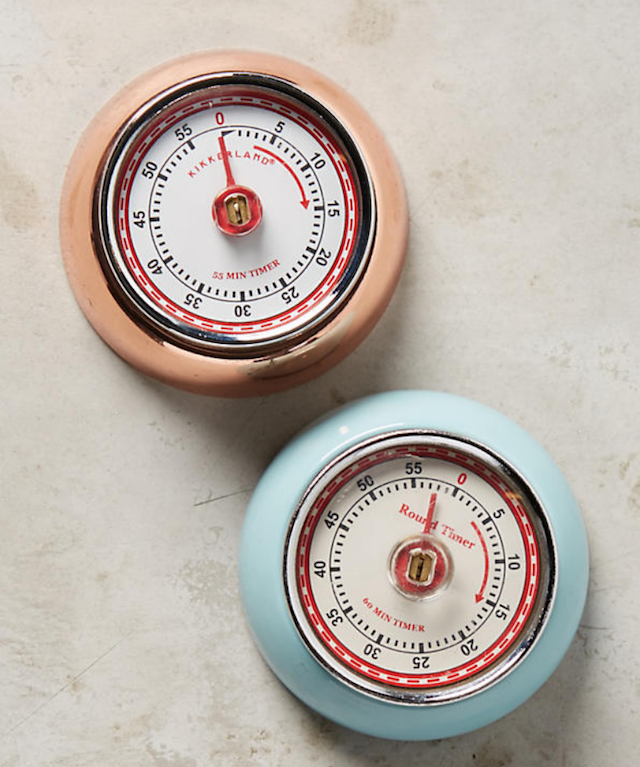 Magnetic Kitchen Timers - peach and blue