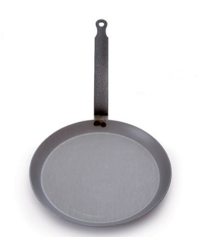 crepe pan on white background
