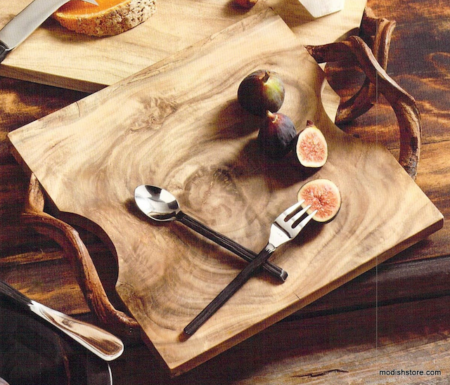 Vine-handled cutting and serving boards from Modish
