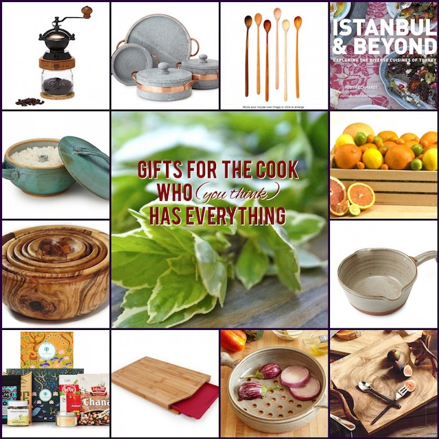 grid collage of twelve gifts for cooks