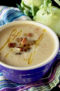 Coconut Kohlrabi Lemon Soup