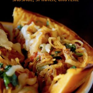 Spinach-Sausage Stuffed Spaghetti Squash Recipe