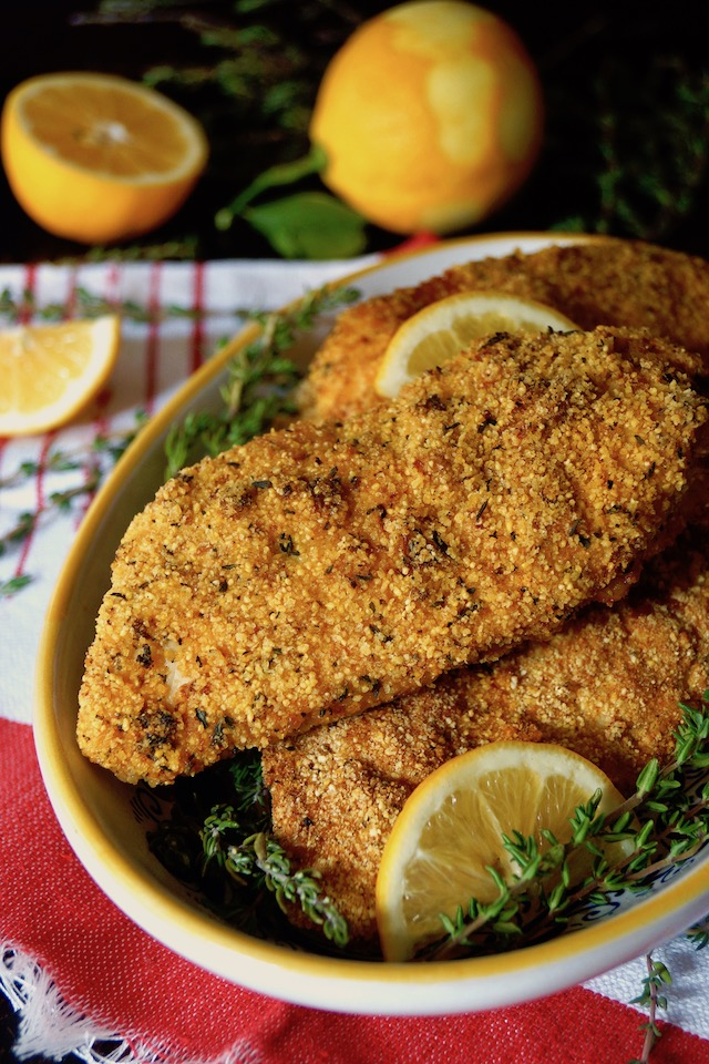 Air Fryer Gluten Free Lemon Fried Chicken Cooking On The Weekends