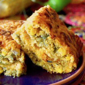 Gluten-Free Hatch Chile Cornbread Casserole