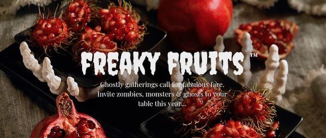 Melissa's Produce Freaky Fruits including rambutan and pomegranate