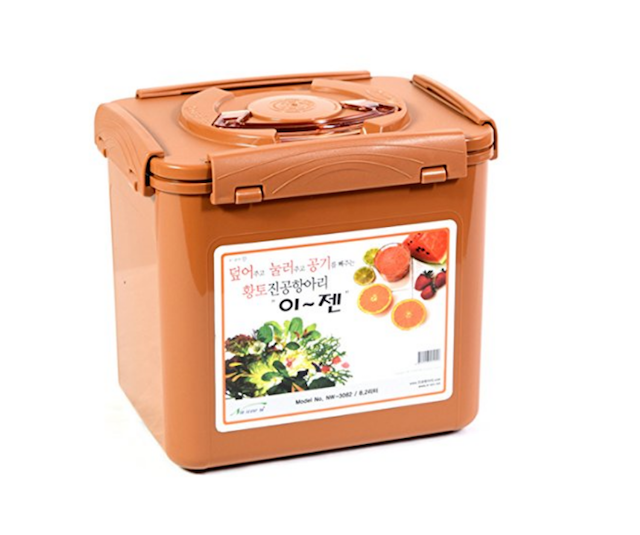 Picture of rust color fermentation container