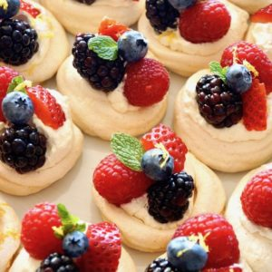 Mini Lemon Berry Pavlovas