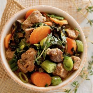Spring Lamb Stew with Green Garlic